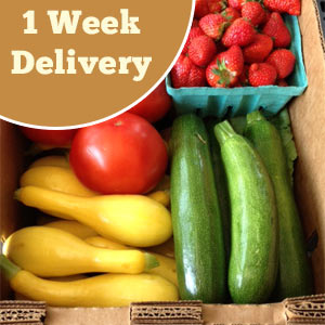 One week of produce delivery service