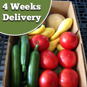 4 weeks delivery of produce